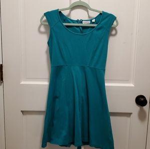 Green / teal cotton dress